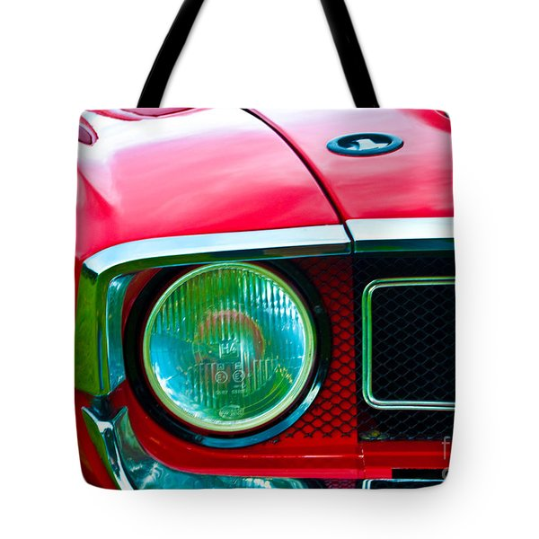 Red Shelby Mustang Tote Bag
