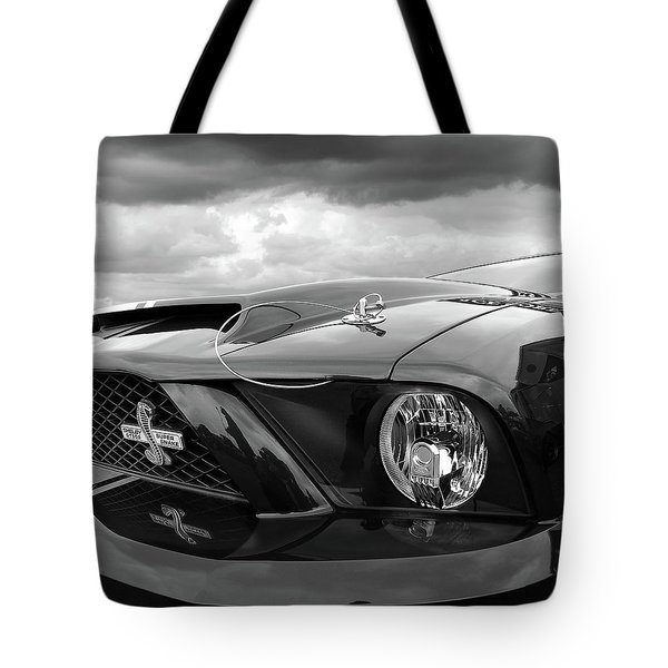 Shelby Super Snake Mustang Grille And Headlight Tote Bag by Gill Billington
