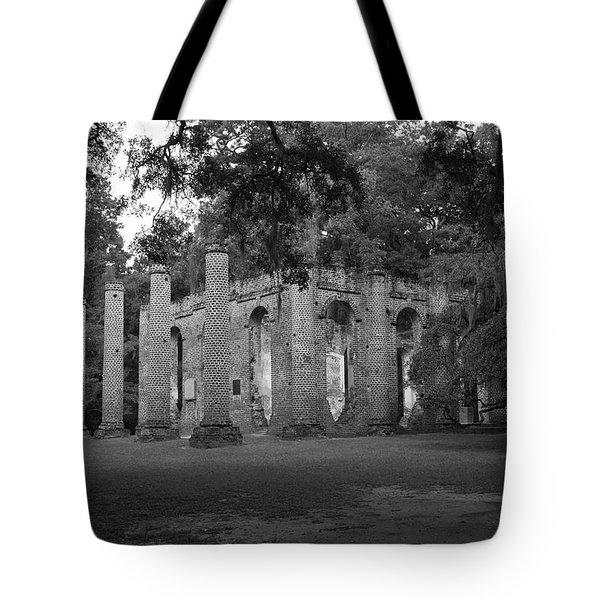 Sheldon Church 4 Bw Tote Bag