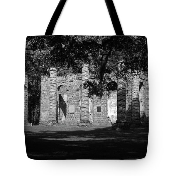 Sheldon Church 7 Bw Tote Bag