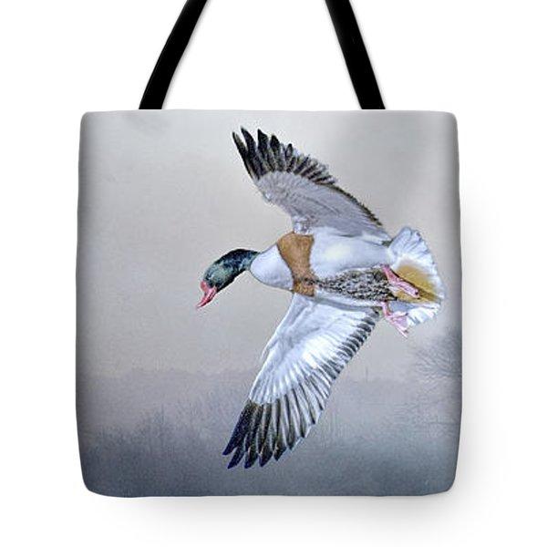 Shelduck Morning. Tote Bag