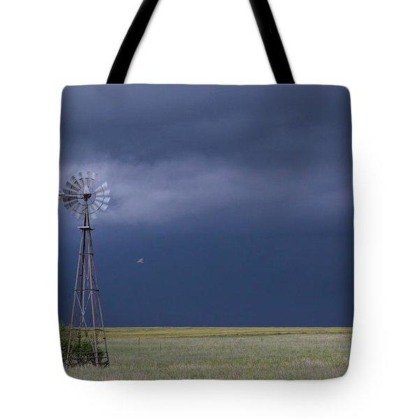 Shelf Cloud And Windmill -02 Tote Bag