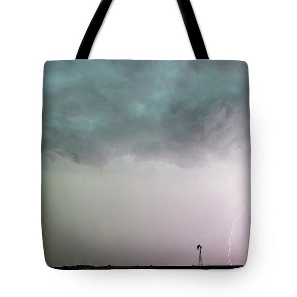 Shelf Cloud And Windmill -05 Tote Bag