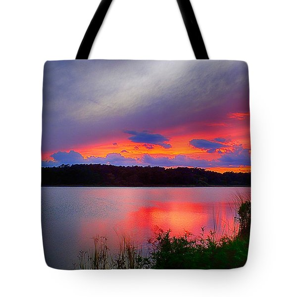 Tote Bag featuring the photograph Shelf Cloud At Sunset by Bill Barber
