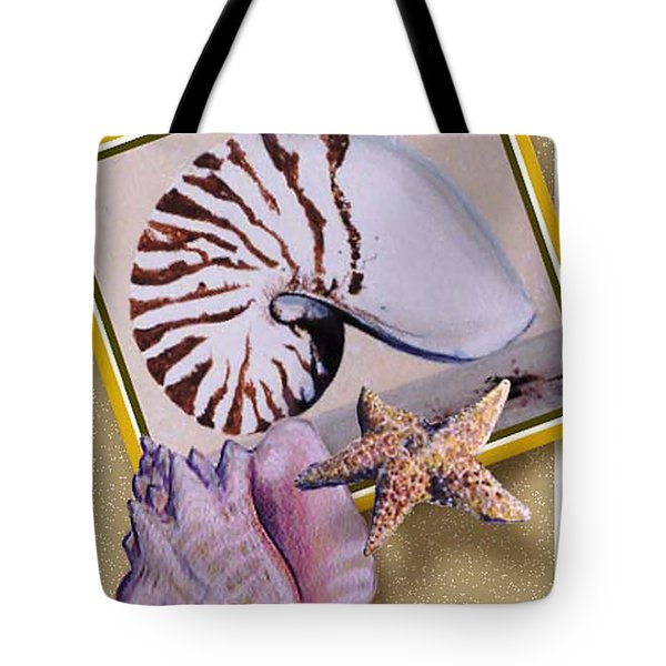 Shell Collage Tote Bag