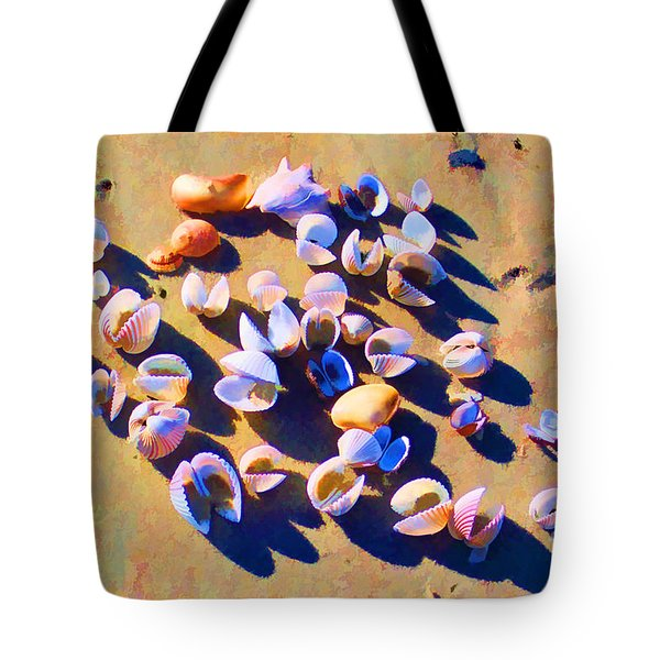 Tote Bag featuring the photograph Shell Collection by Roberta Byram