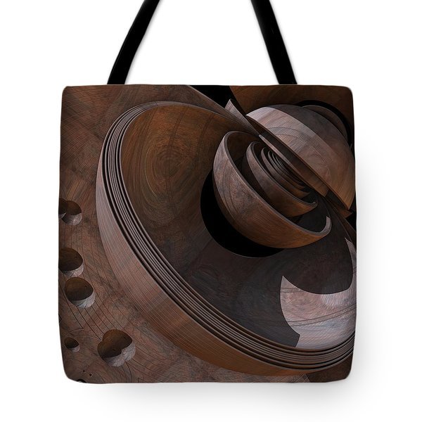 Tote Bag featuring the digital art Shell Game by Lyle Hatch