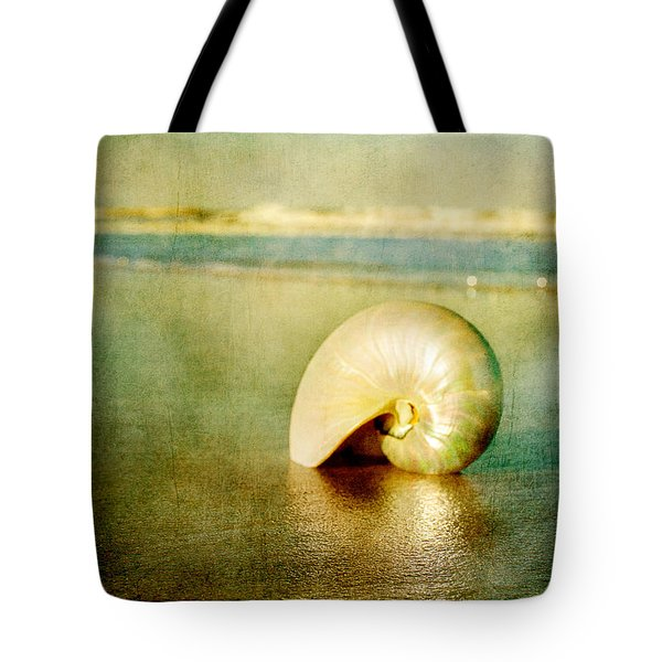 Shell In Sand Tote Bag
