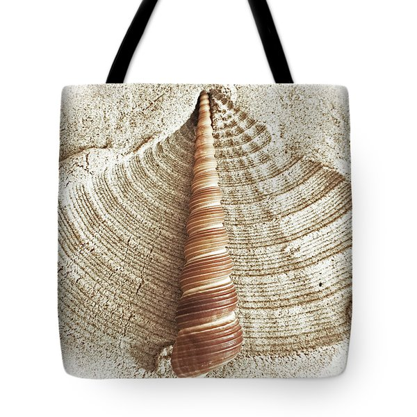 Shell In The Sand Tote Bag