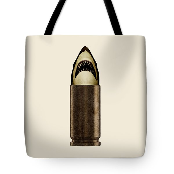 Shell Shark Tote Bag by Nicholas Ely
