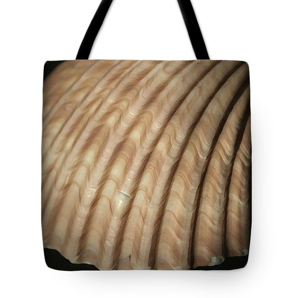 Shell Waves Tote Bag by Mary Haber