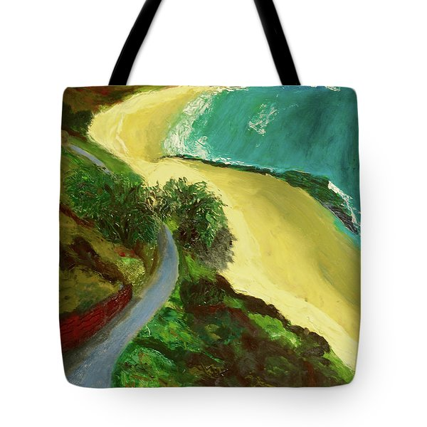 Tote Bag featuring the painting Shelly Beach by Paul McKey