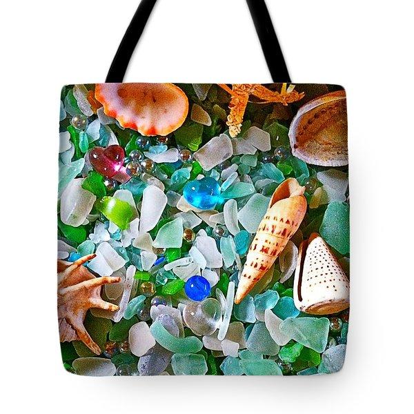 Shells And Glass Tote Bag