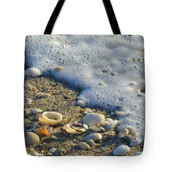 Shells And Seafoam Tote Bag