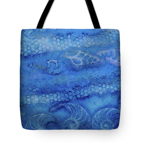 Tote Bag featuring the painting Shells Galore by Mary Sullivan