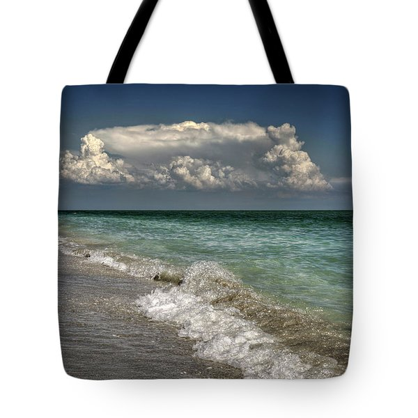 Shells, Surf And Summer Sky Tote Bag
