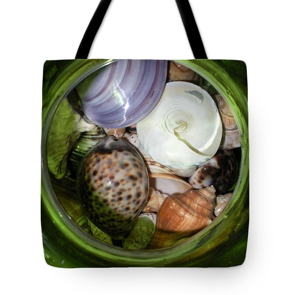 Shells Under Glass II Tote Bag by Maria Bonnier-Perez