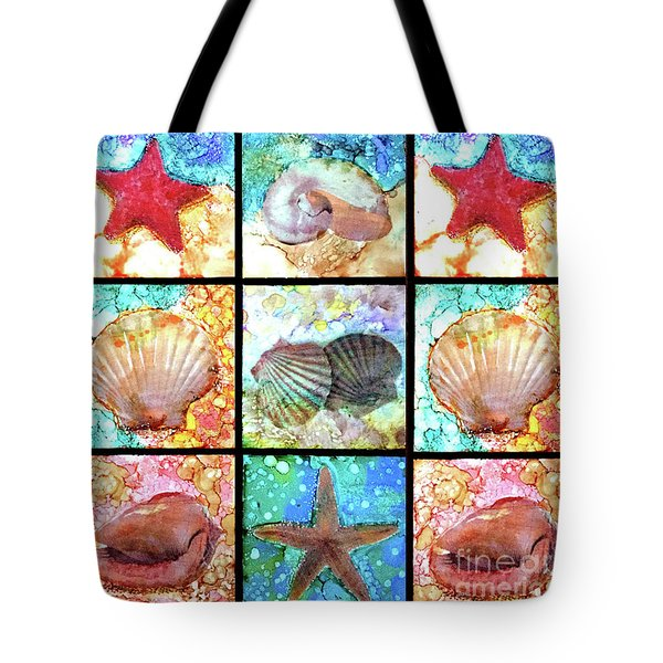 Shells X 9 Tote Bag by Alene Sirott-Cope