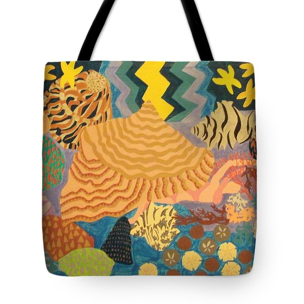 Tote Bag featuring the painting Shellshocked by Erika Chamberlin