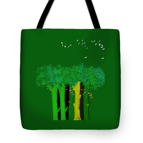 Tote Bag featuring the digital art Shelter by Asok Mukhopadhyay