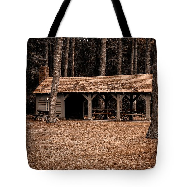 Shelter In The Woods Tote Bag