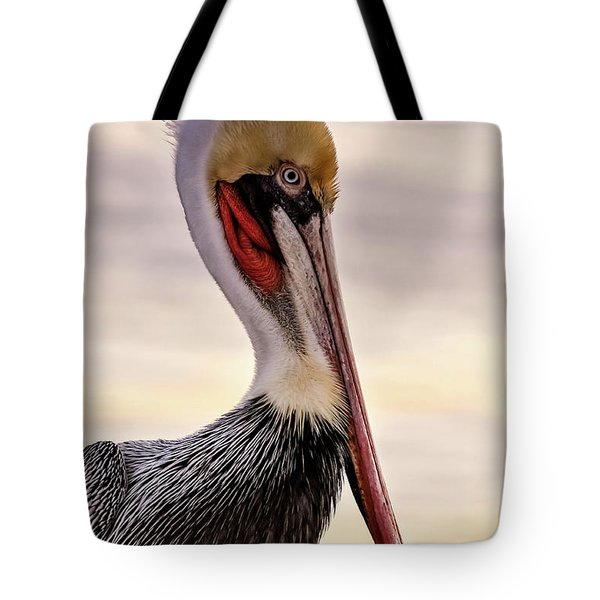 Shelter Island's Pelican Tote Bag by Martina Thompson
