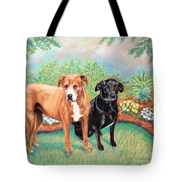 Shelter Rescued And Loved Tote Bag by Patricia L Davidson