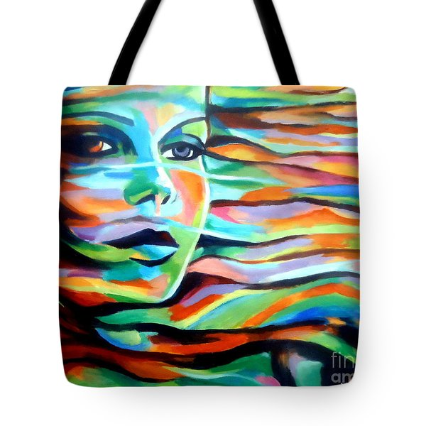 Sheltered By The Wind Tote Bag by Helena Wierzbicki