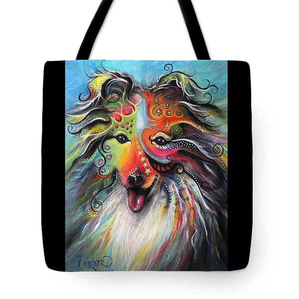 Sheltie  Tote Bag by Patricia Lintner