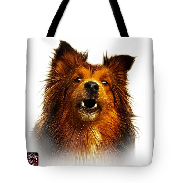 Tote Bag featuring the painting Sheltie Dog Art 0207 - Wb by James Ahn