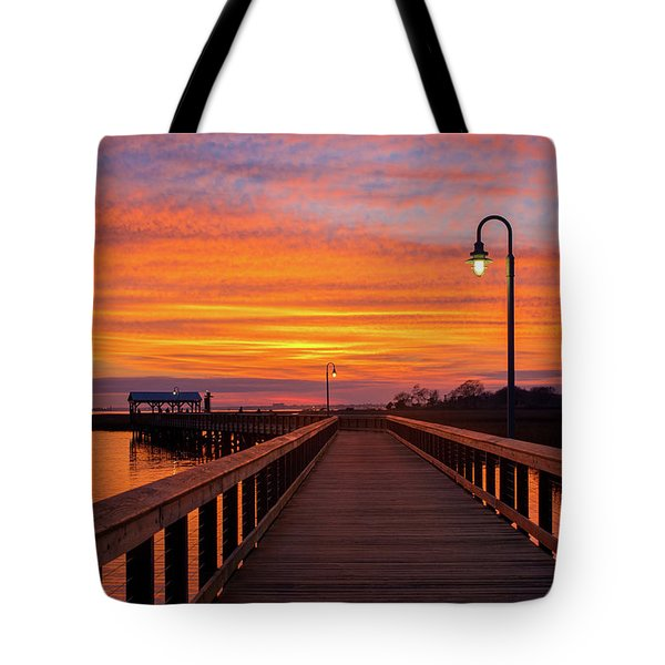 Shem Creek Pier Tote Bag