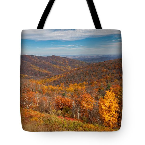 Tote Bag featuring the photograph Shenandoah Skyline by Ross Henton