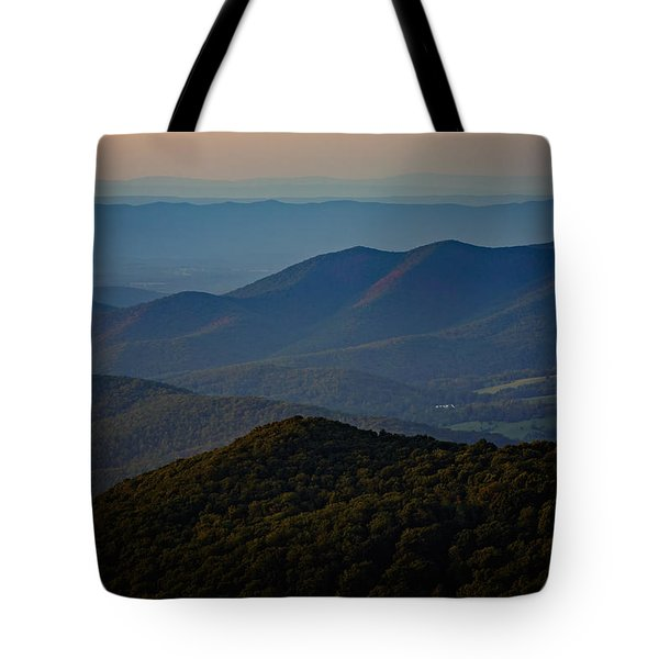 Shenandoah Valley At Sunset Tote Bag