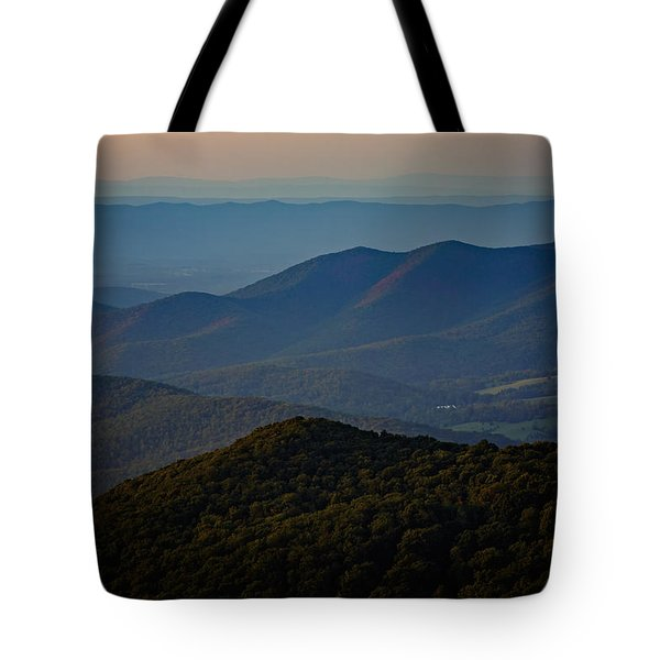 Shenandoah Valley At Sunset Tote Bag by Rick Berk