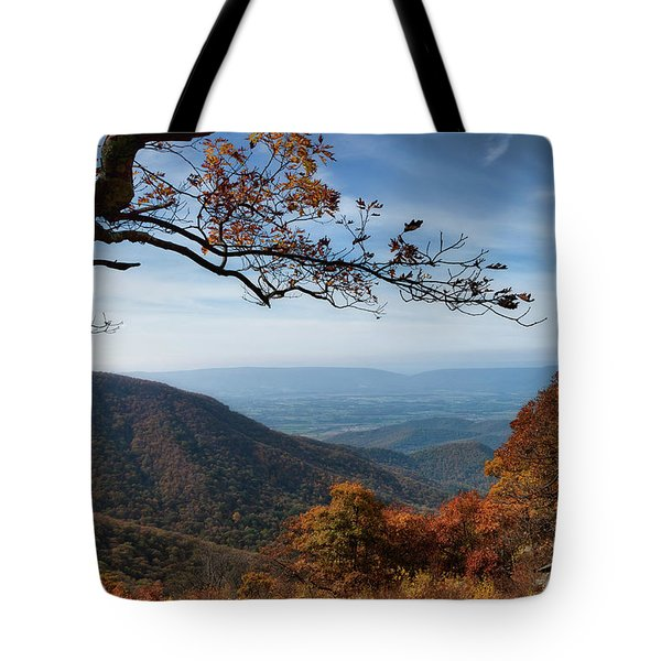 Shenandoah Valley From The Mountain Top Tote Bag by Lara Ellis