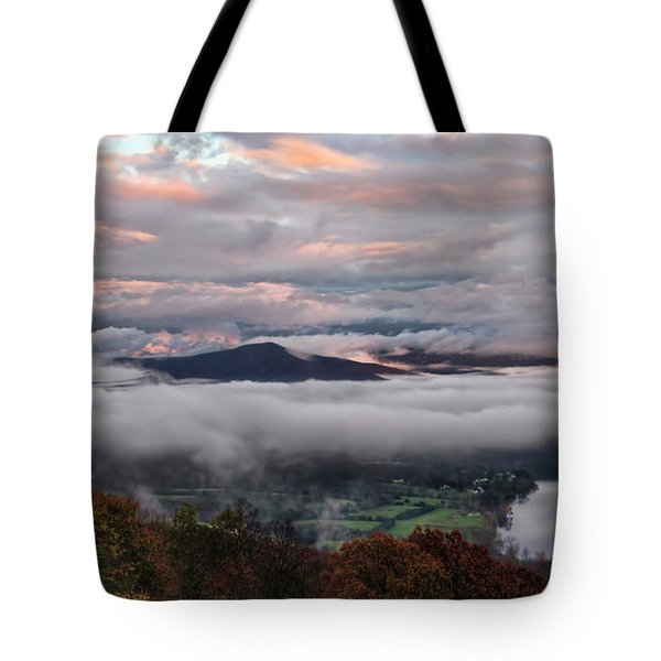 Shenandoah Valley November 2015 Skies Tote Bag by Lara Ellis