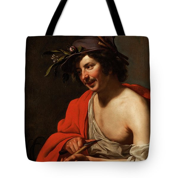 Shepherd With Flute Tote Bag
