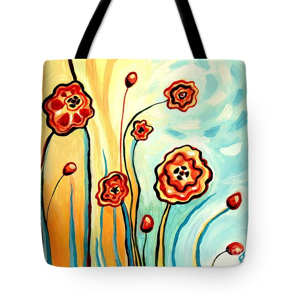 Sherbert And Powder Blue Skies Tote Bag by Elizabeth Robinette Tyndall