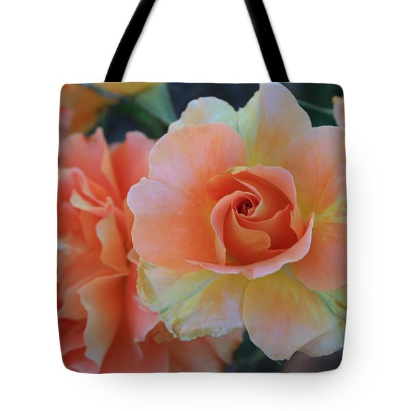 Sherbert Rose Tote Bag by Marna Edwards Flavell