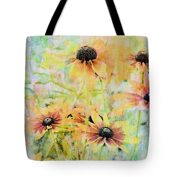 Sherbet Flowers Tote Bag