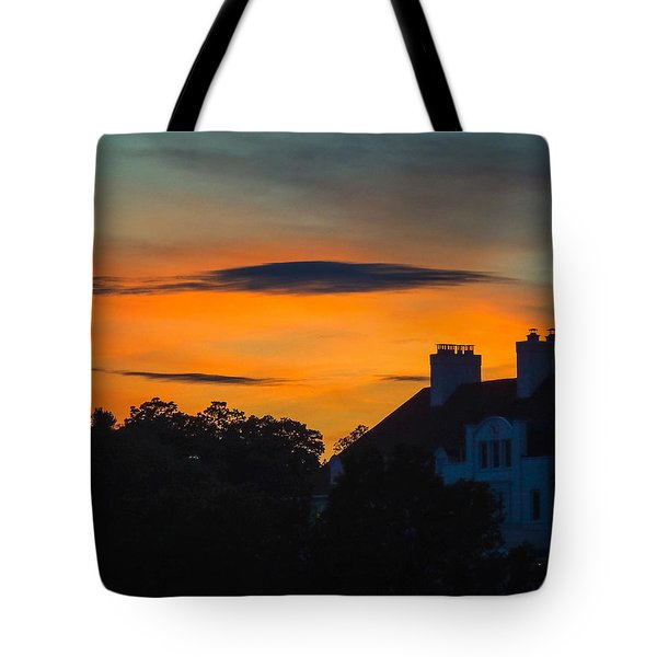 Tote Bag featuring the photograph Sherbet Sky Sunset by Glenn Feron