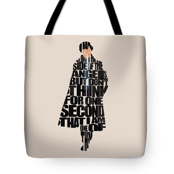 Sherlock - Benedict Cumberbatch Tote Bag