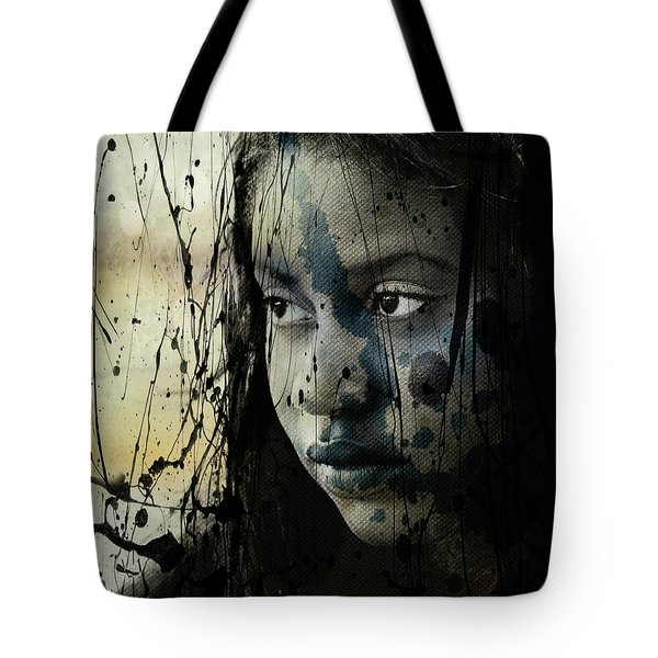 Tote Bag featuring the mixed media She's Out Of My Life  by Paul Lovering