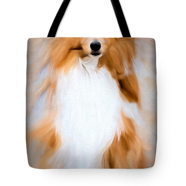 Tote Bag featuring the photograph Shetland Sheepdog - Sheltie by Ericamaxine Price