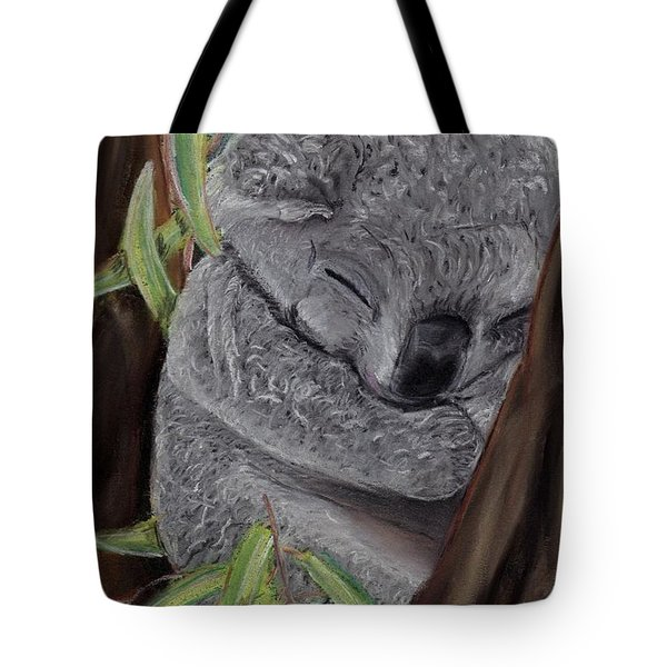 Shhhhh Koala Bear Sleeping Tote Bag by Kelly Mills