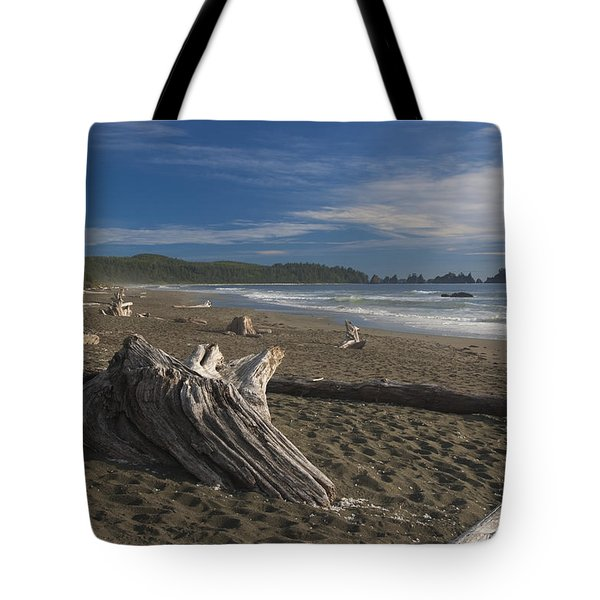 Shi Shi Beach Driftwood Afternoon Tote Bag by Scott Cunningham