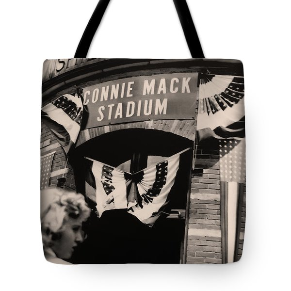 Shibe Park - Connie Mack Stadium Tote Bag by Bill Cannon