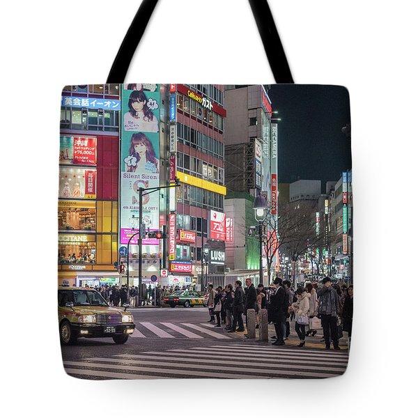 Shibuya Crossing, Tokyo Japan Tote Bag