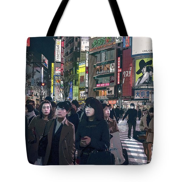 Shibuya Crossing, Tokyo Japan Poster 2 Tote Bag