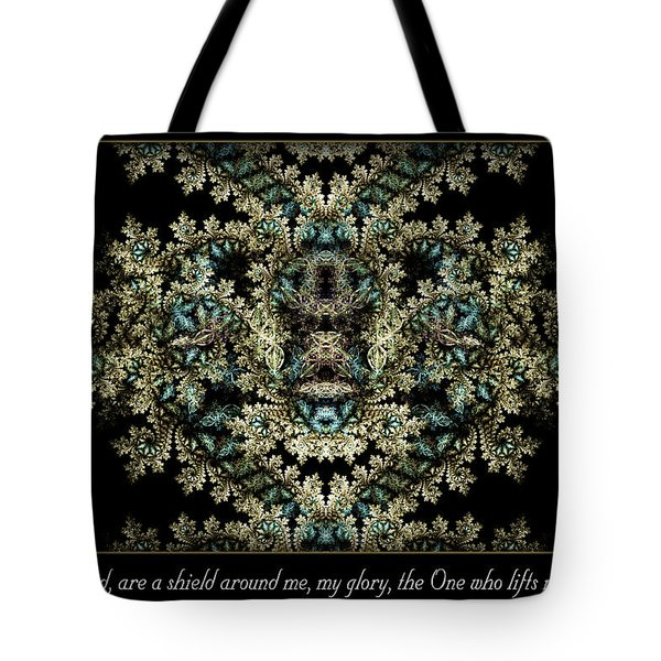 Tote Bag featuring the digital art Shield Around Me by Missy Gainer